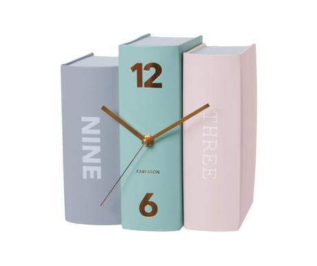 Stolové hodiny Karlsson Kniha 5515 pastell 20 cm,