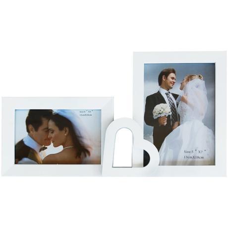 Svadobný biely multirám na 2 fotky,
