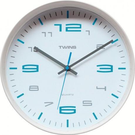 Twins hodiny 10512 biele 30cm,