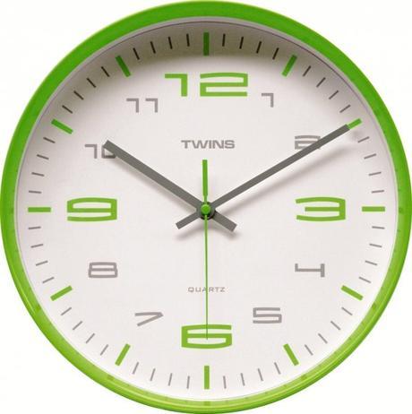 Twins hodiny 10512 zelene 30cm,