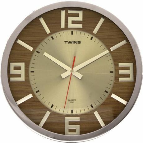 Twins hodiny 2361 light wood 32cm,