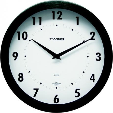 Twins hodiny 2410 čierne 25cm,