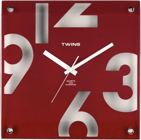Twins hodiny 5080 červene 30cm,