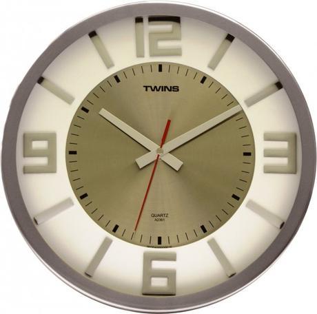 Twins hodiny na stenu 2361 biele 32cm,