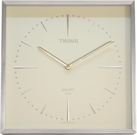 Twins hodiny na stenu 2904 biele 29cm,