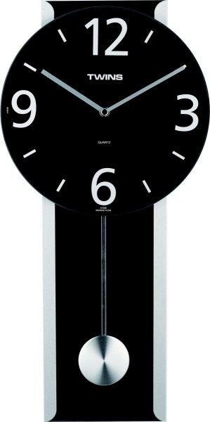 Twins kyvadlové hodiny 1008 pendulum čierne 50cm,