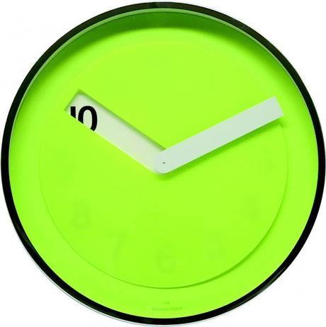 Twins nástenné hodiny 08 zelené 30cm,