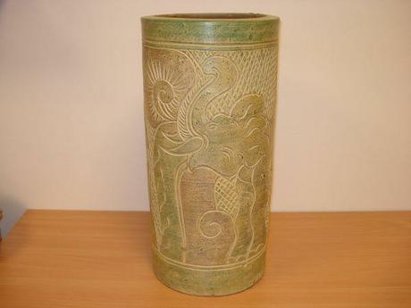 váza, keramika, výška 47 cm,