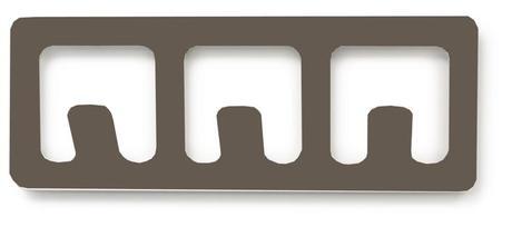 Vešiak BALVI Tetris 3, šedý,