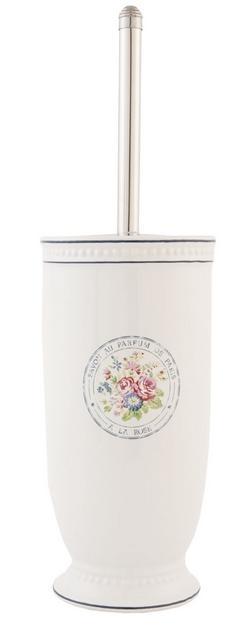 WC kefa kvety WC kefa v keramickom tubuse biela,
