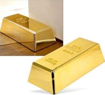 Zlatá tehlička, záražka do dverí,
