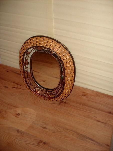 zrkadlo,kov-ratan,45x58cm,