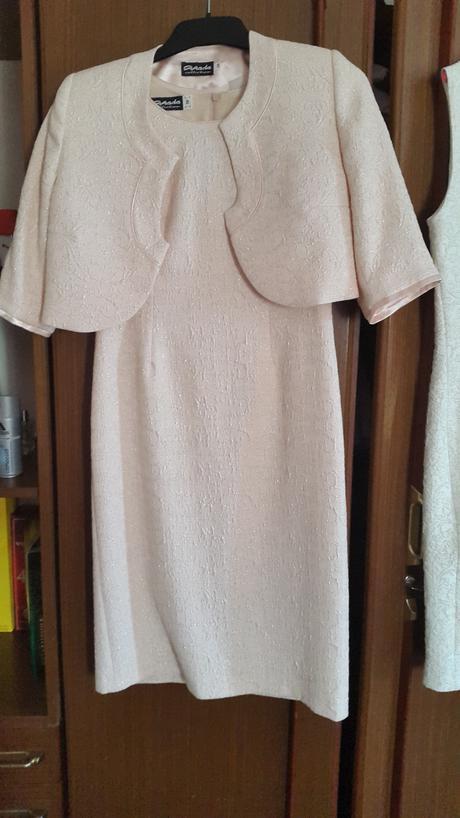 spoločenské šaty krátke - bledá staroružová , 38
