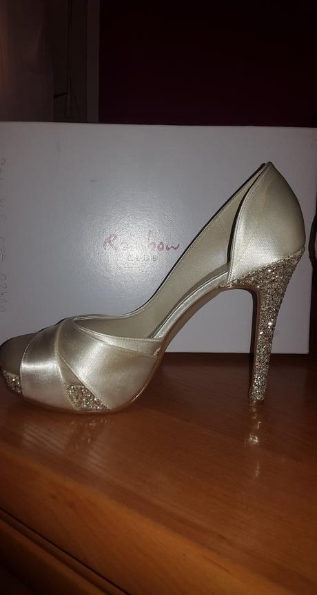 svadobné topánky na platforme, 37