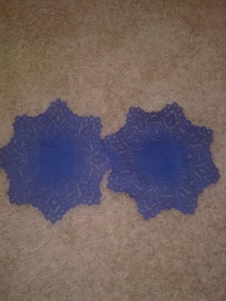 2ks male modre obrusky,