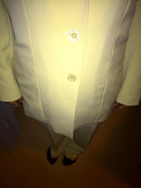 pastelovo zeleny nohavicovy kostym 44, 42