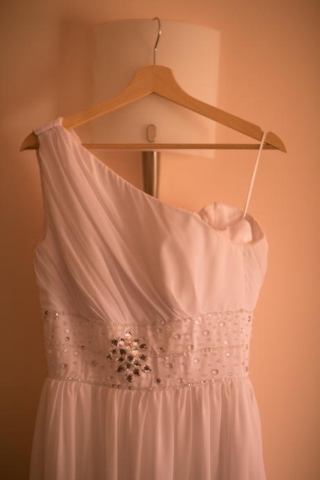Antické šaty empírového strihu na jedno rameno, 38