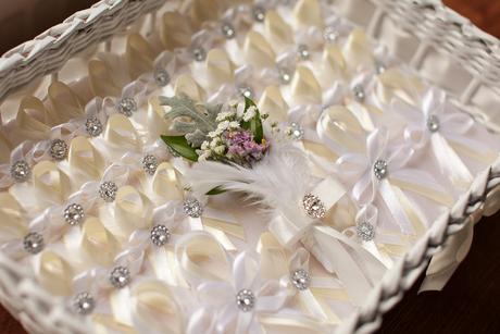 Pierka s perím na malú svadbu - 12ks,