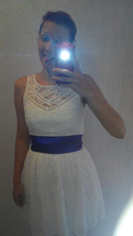 Elegantní bílé šaty Tally Weijl, 42