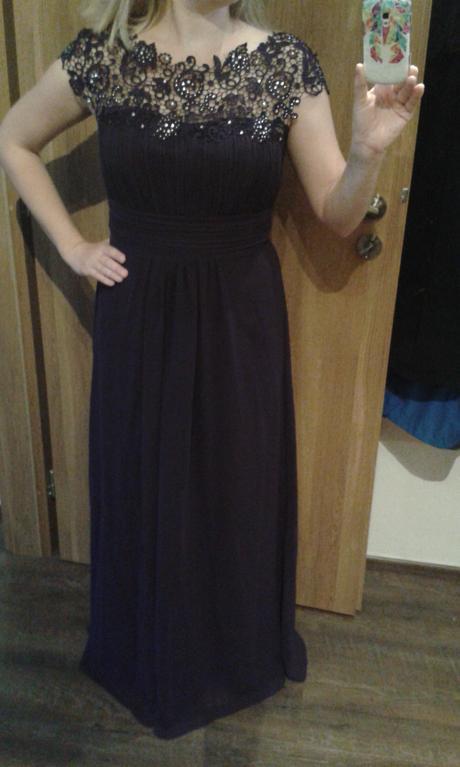 Tmavě fialové plesové šaty Ever-Pretty, 40