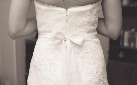 Svatební šaty 36-38 pro vysokou nevěstu, 38