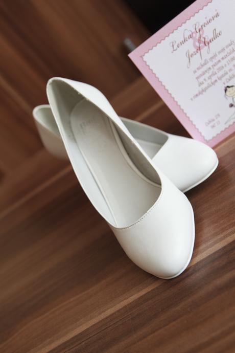 Topánky svadobné , 41