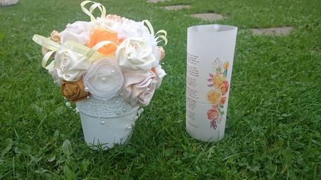 Jesenná výzdoba - látkove kytice,