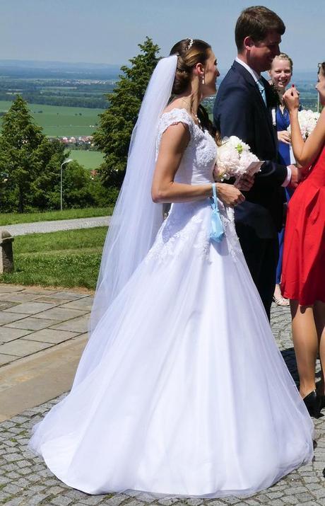 Originální princeznovské svatební šaty - vel 36-38, 38