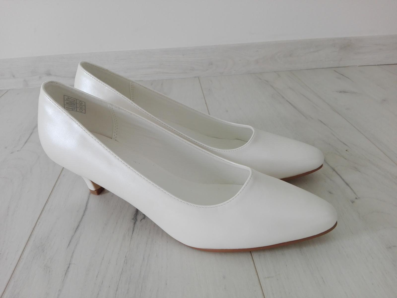 f94907d9de3 Svatební boty bílé vel.41