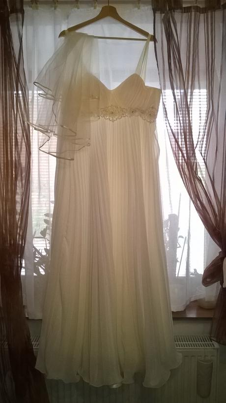 Atické svatební šaty - možno těhotenské, 38