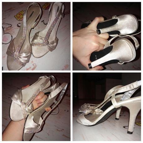 strieborne spolocenske sandale, 40
