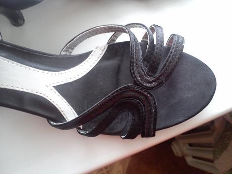 cierne sandalky, 39