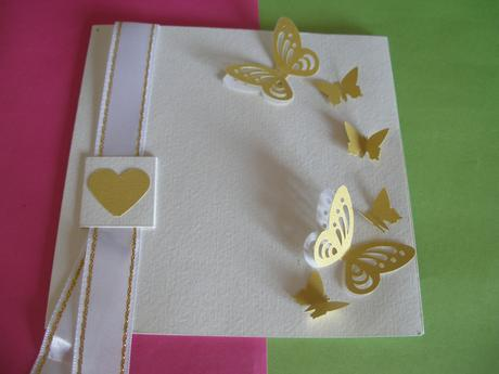 3D motýliky - krémové (10 ks),