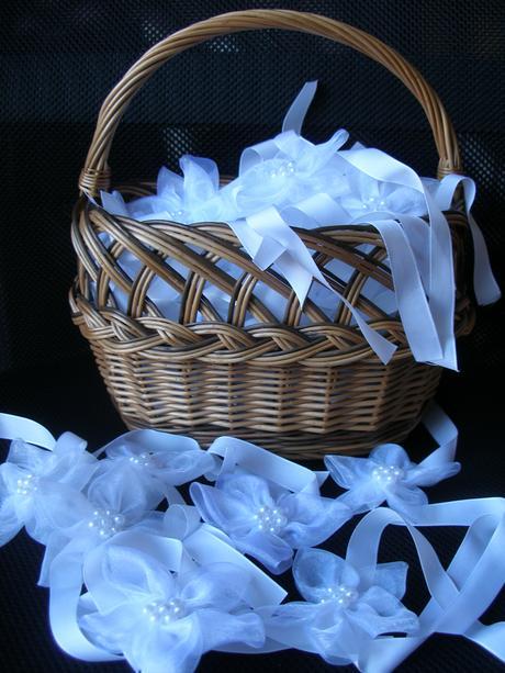 Nielen-snehovo-biele HM naramky pre druzicky,