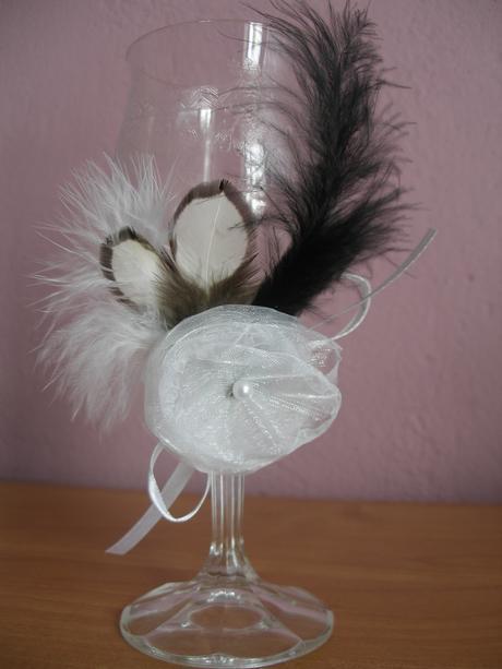 Ozdoba na svadobné poháre - 2 ks,
