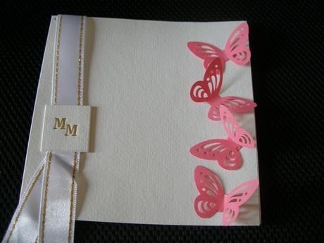 Papierové 3D motýliky (ružovo cyklamenova) 10 ks,