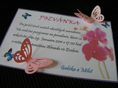Ružové 3D-motýliky (10ks-balenie),