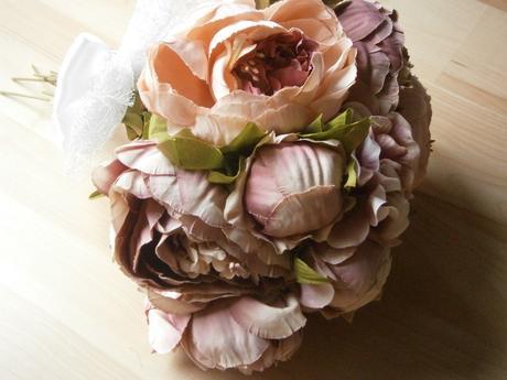 Svadobná kytica - látková v tmavšej ružovej SKLADO,