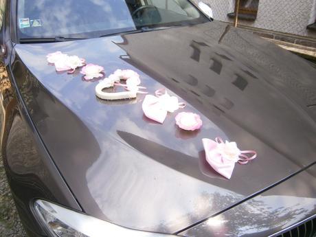 Výzdoba auta - ružová SKLADOM,