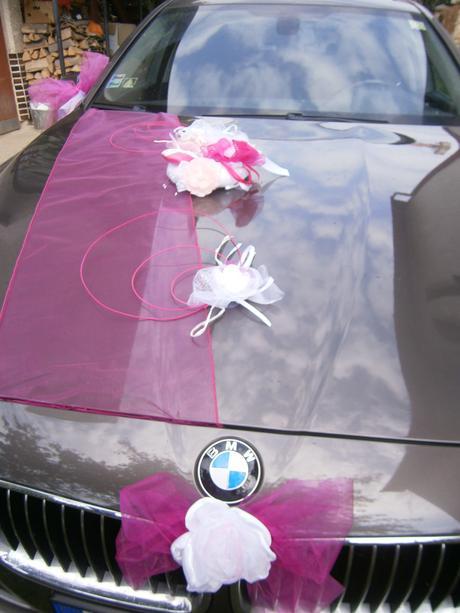 Vyzdoba na auto - cyklaménovo ružová,