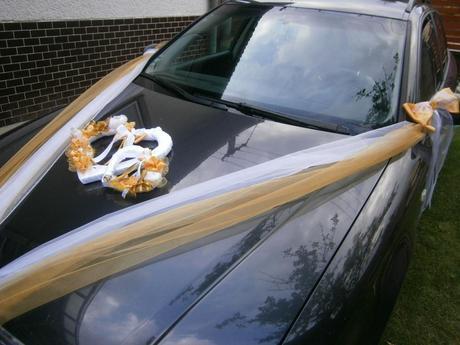 Výzdoba svadobného auta - veľké dvoj-srdce,