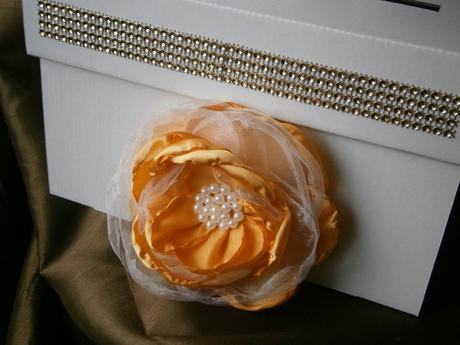 Wedding box na blahoželania - zlatá,