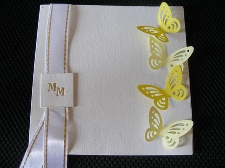Žlté 3D motýliky (10ks-balenie),