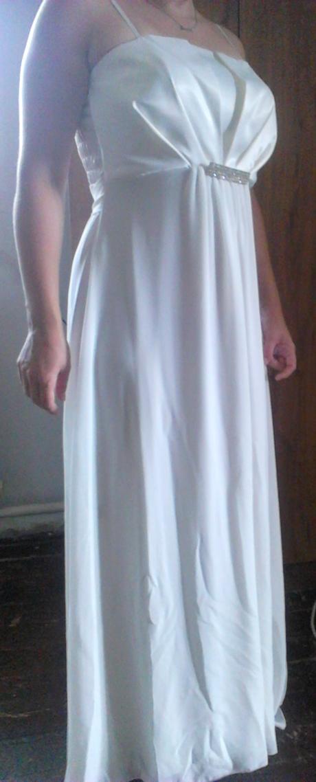 Svadobné,spoločenské šaty vhodné aj pre tehotné, L