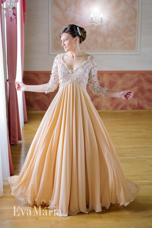 3c2de39cc5c0 Béžové luxusné šaty - predaj   prenájom