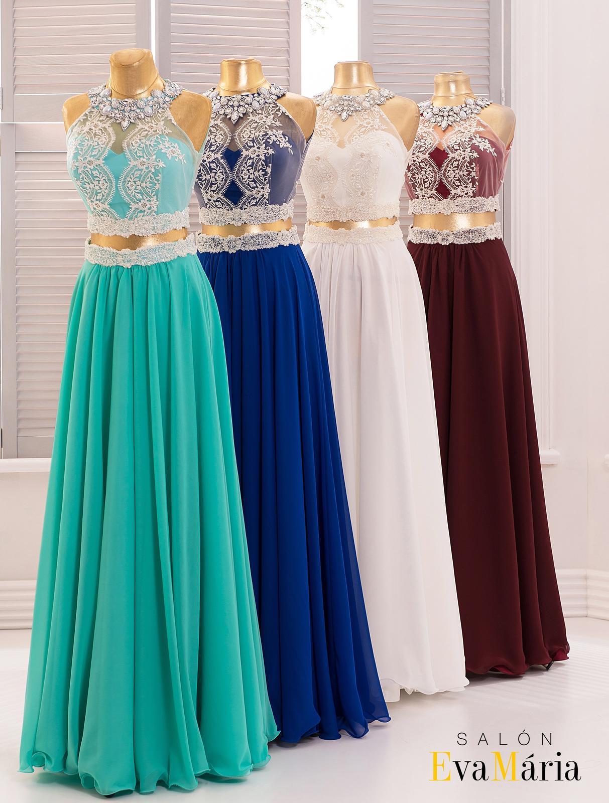 0af7a3a6a7f9 Extravagantné spoločenské šaty s kamienkami