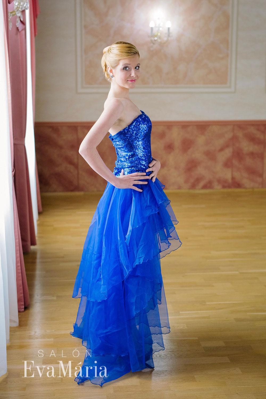 Luxusné modré koktejlové šaty - predaj   prenájom 132599a7bde