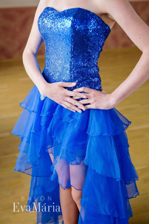 a04eb6a6d16b Luxusné modré koktejlové šaty - predaj   prenájom