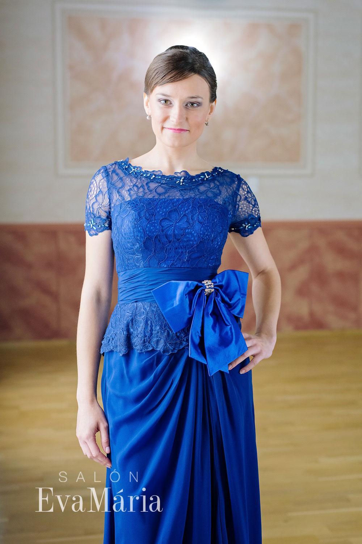 b7cc794a122d Luxusné modré večerné šaty - predaj   prenájom