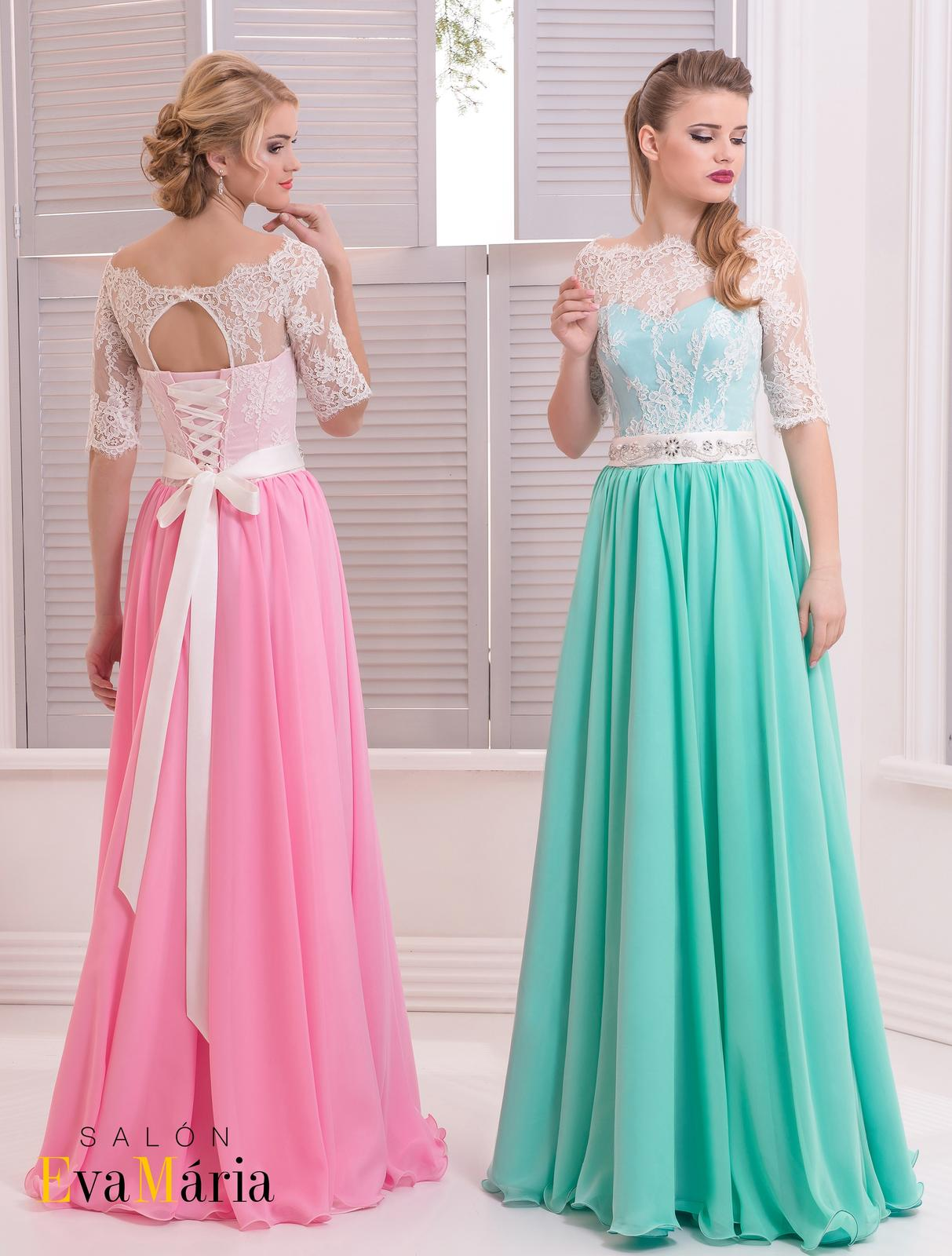 4aca965e032f Prekrásne spoločenské šaty s čipkovanými rukávmi